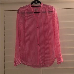 Pink striped juicy couture button down